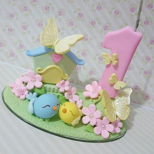 Topo de bolo: Jardim Encantado