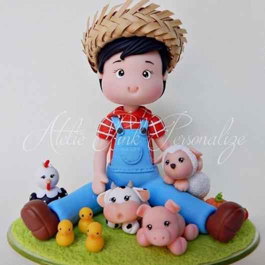 Topo de bolo: Fazendinha