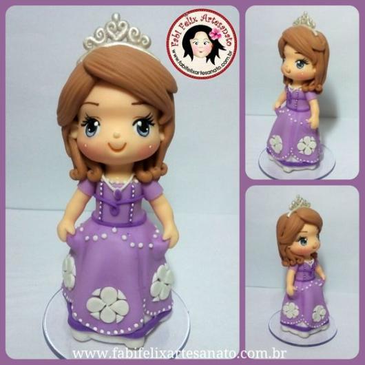 Topo de bolo: Princesa Sofia
