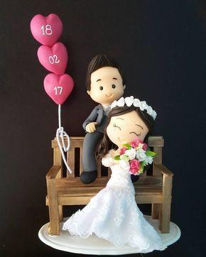 Topo de bolo: Casamento