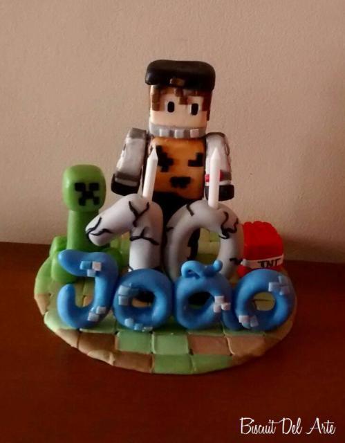 Topo de bolo: Minecraft