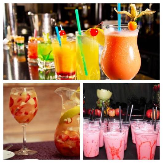Veja como as frutas deixam os drinks mais coloridos, além disso eles ficam saborosos