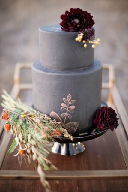 Bodas de Trigo: Bolo decorado com flores