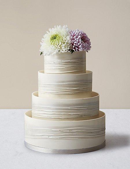 bolo de bodas de prata branco clean