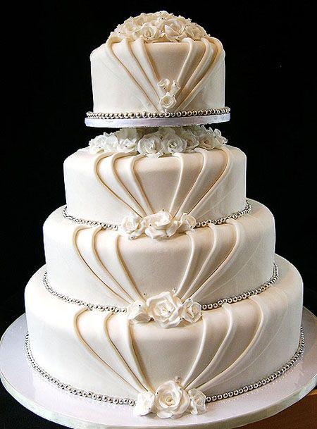 Bolos mais lindos do mundo: Bolo para casamento com pasta america