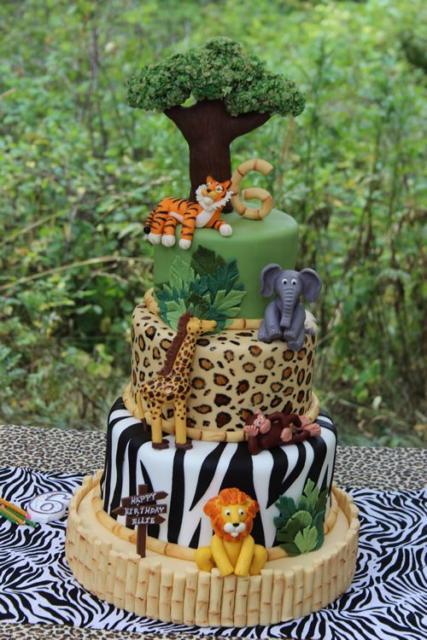 Bolos mais lindos do mundo: Bolo para aniversário Safari