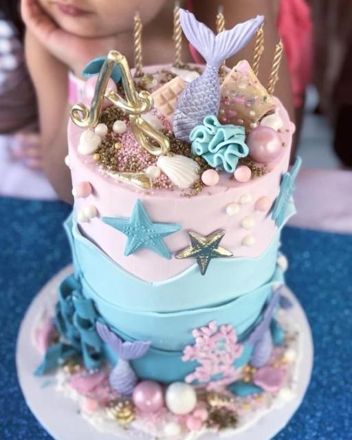 Bolos mais lindos do mundo: Bolo para aniversário Sereia