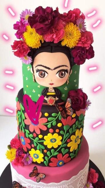 Bolos mais lindos do mundo: Bolo para aniversário Frida Kahlo