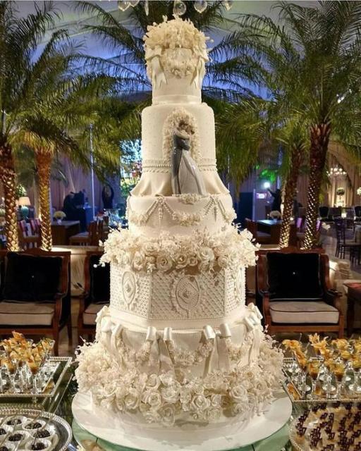 Bolos mais lindos do mundo: Bolo para casamento com pasta americana