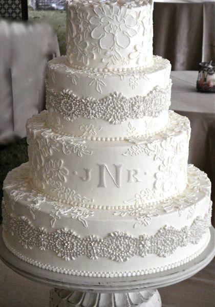 Bolos mais lindos do mundo: Bolo para casamento branco