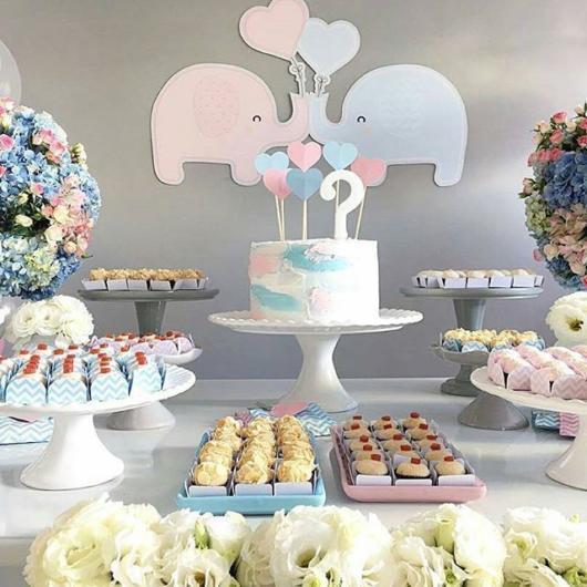 Chá Revelação: Decoração Elefantinho