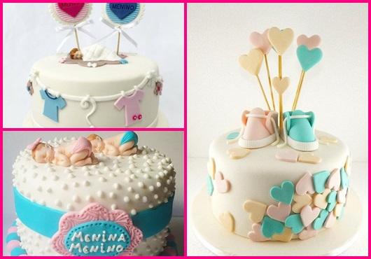 Chá Revelação: Modelos de bolos