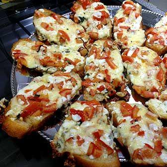 Comidas para Chá de Bebê a tarde: Pão de pizza