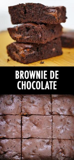 Comidas para Chá de Bebê a tarde: Brownie
