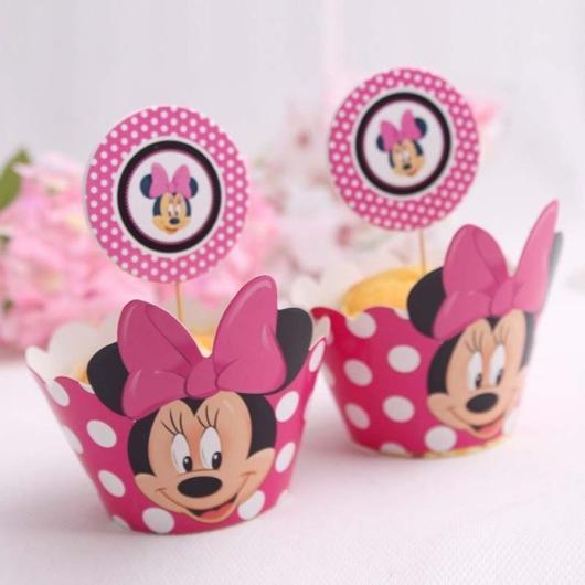 cupcake minnie rosa com caixa personalizada
