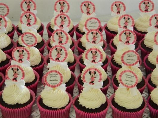 cupcake minnie rosa decorado
