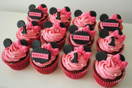 fotos de cupcake Minnie rosa