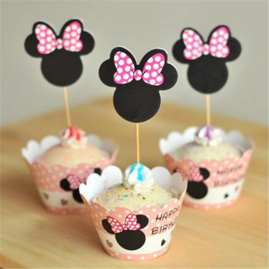 cupcake minnie rosa com caixinha personalizada
