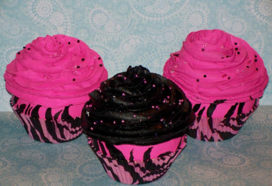cupcake minnie rosa com granulado