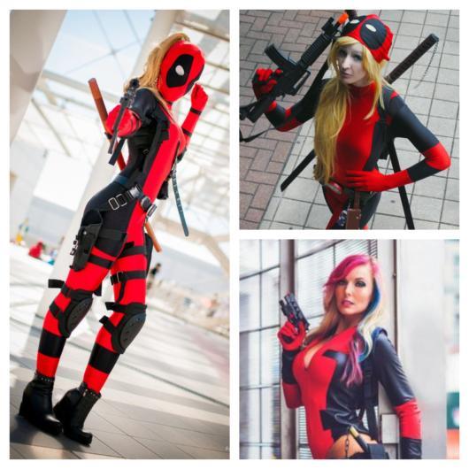 As mulheres podem inovar ao montar uma fantasia Deadpool feminina linda e conceitual