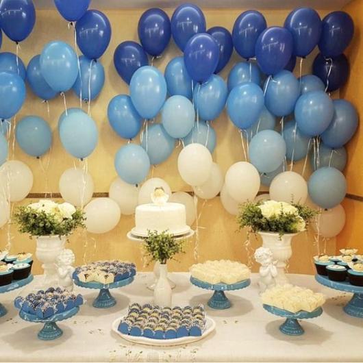 decoração festa azul