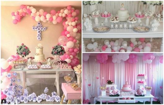 festa de menina com balões