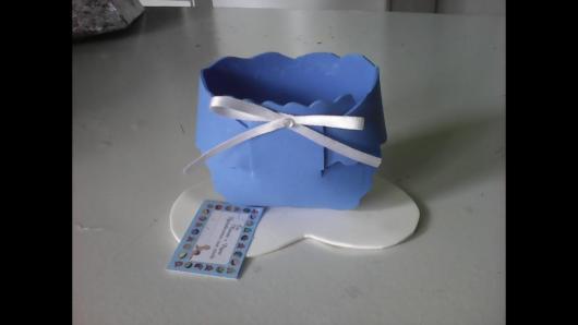 Enfeites para chá de bebê masculino: Fralda em EVA