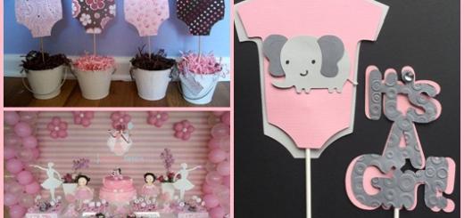 Enfeites para chá de bebê: Inspirações