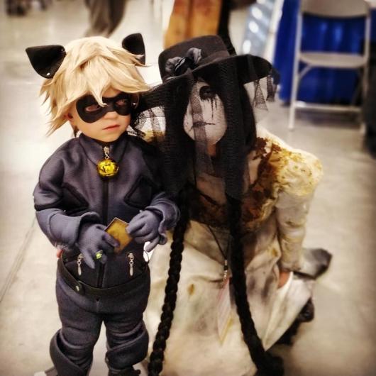 fantasia cat noir para festa de halloween