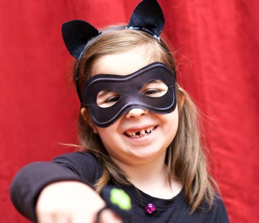 fantasia cat noir com máscara