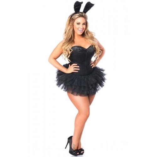 Fantasia com saia de tule preta: Coelha