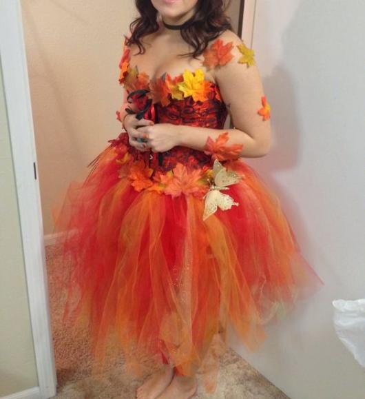 Fantasia com saia de tule: Fada laranja
