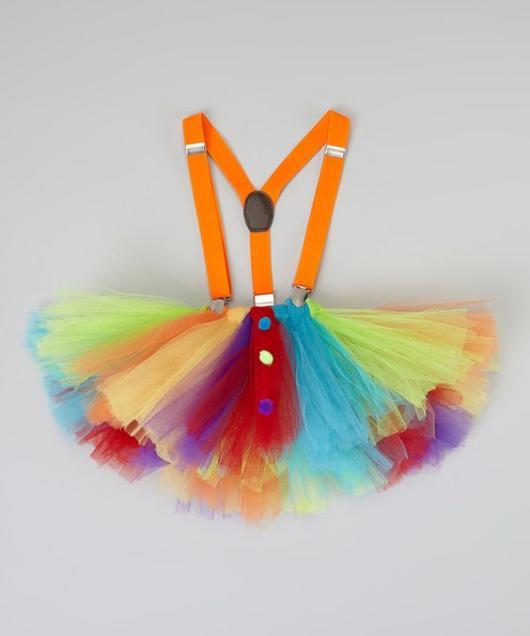 Fantasia com saia de tule infantil: Palhacinha