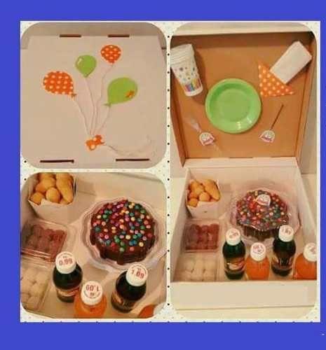 A festa na caixa é uma proposta acessível que deixará seu amigo impressionado