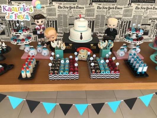 Festa Poderoso Chefinho: Decoração com bonecos de feltro