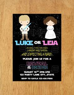 Convite com tema Star Wars.