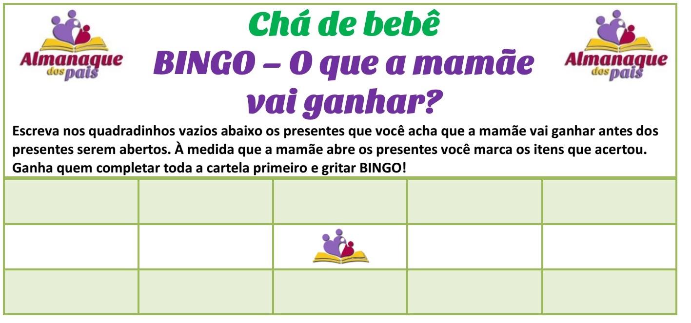 cartela para imprimir bingo de presentes