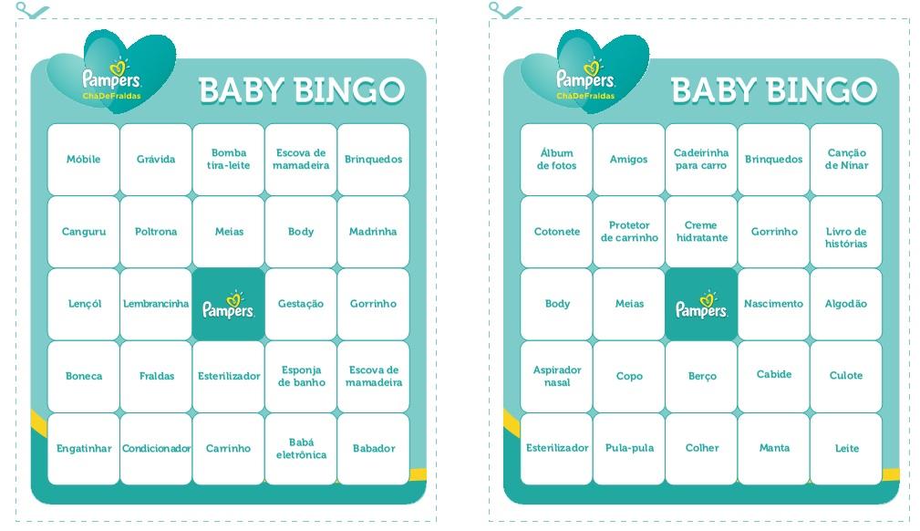 bingo para chá de revelação