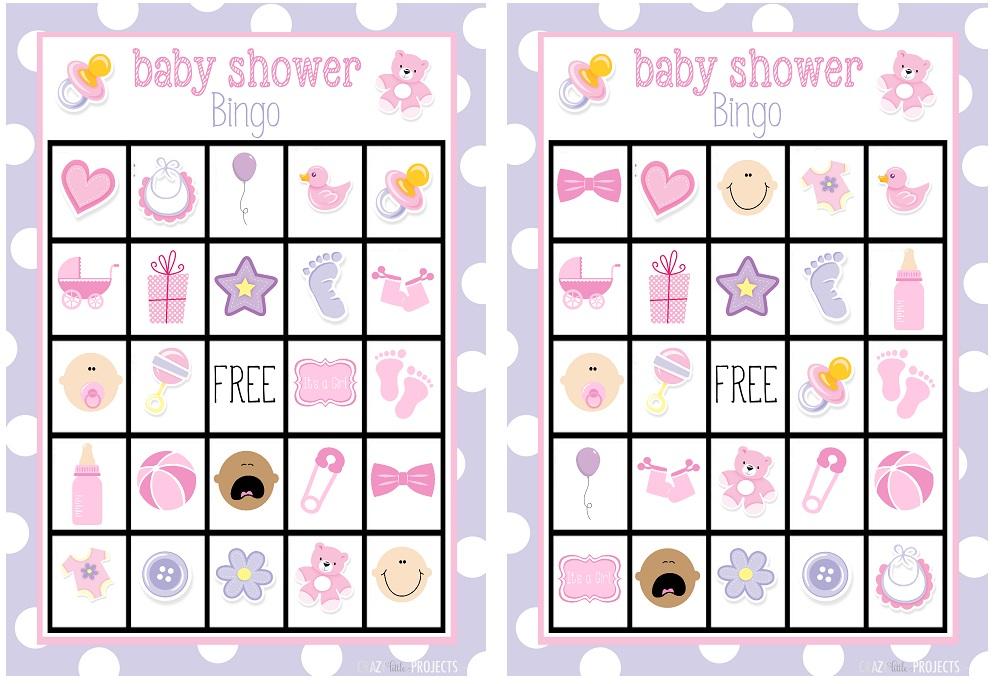 modelo para bingo de menina