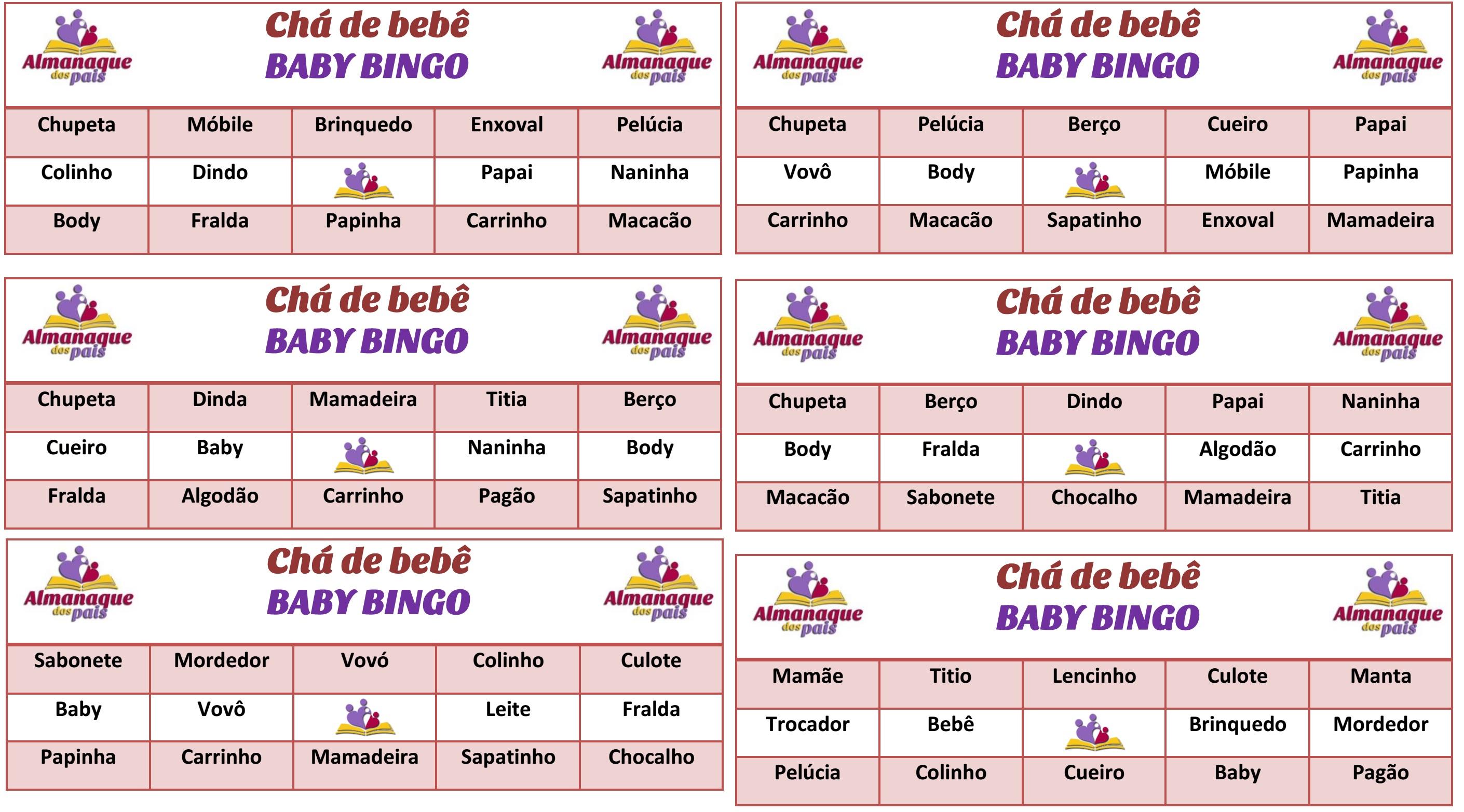 cartelas de bingo grátis