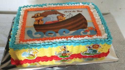Outra ideia de decoração de arca de noé com papel de arroz