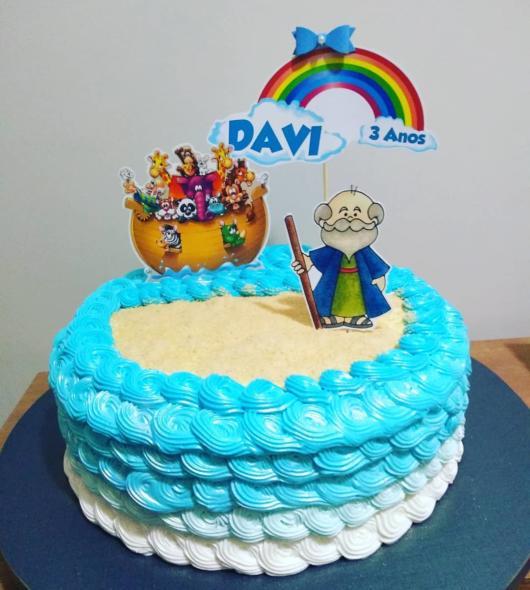 Atualmente há topo temático para bolo de papel arca de noé