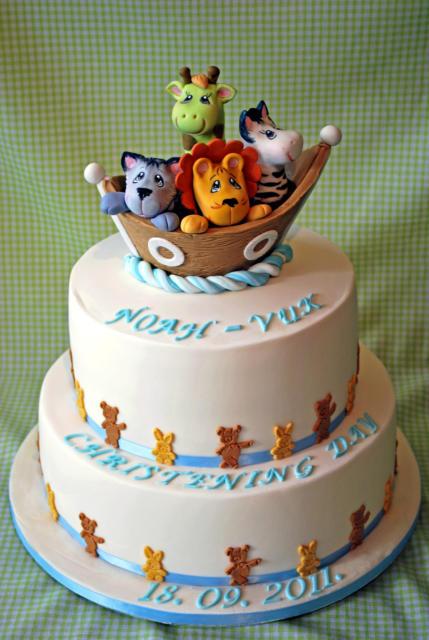 Outra sugestão de bolo branco da arca de noé