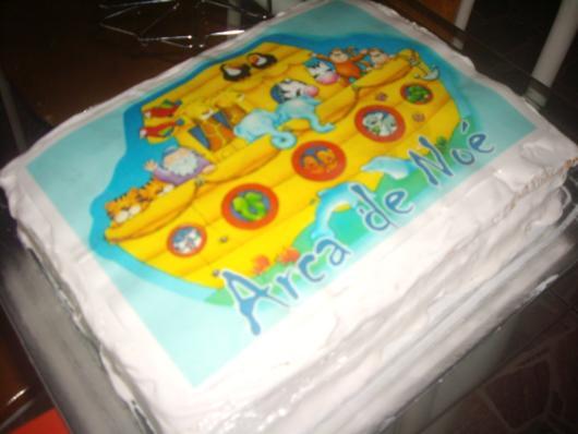 Aposte no papel de arroz para decorar bolo de arca de noé
