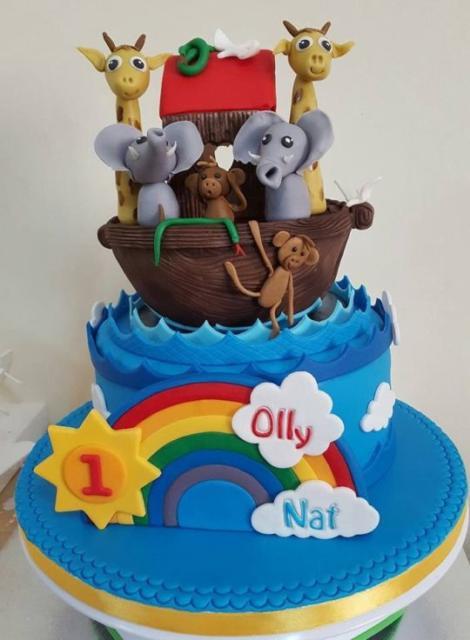 bolo arca de noé aniversário de 1 aninho