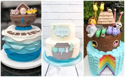 Conheça modelos incríveis de bolos de Arca de Noé