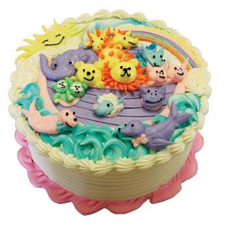 Outra dica de bolo arca de noé com detalhes em chantilly