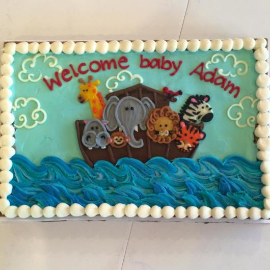 Você também pode investir em bolo quadrado arca de noé