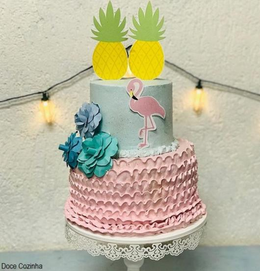 bolo simples de 2 andares