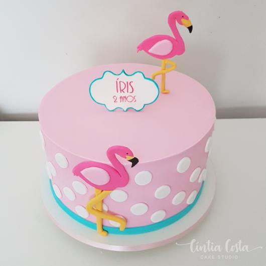 bolo rosa e azul pasta americana